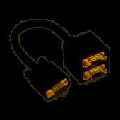 Adaptateur Coupleur professionnel 1 VGA mâle vers 2 VGA femelles cordon 20cm