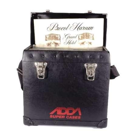 Étui Vintage Mallette de transport Shoulder pour 40 Disques Vinyles - ADDA LP-40