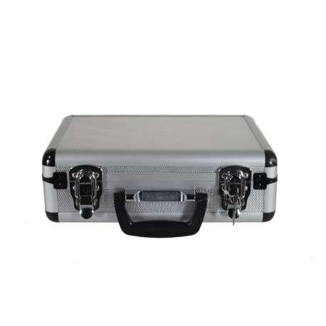 Flight-case en aluminium pour microphone sans fil