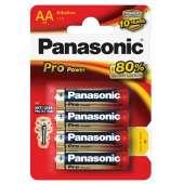 Piles Alcaline Panasonic x4 AA LR6 Pro Power