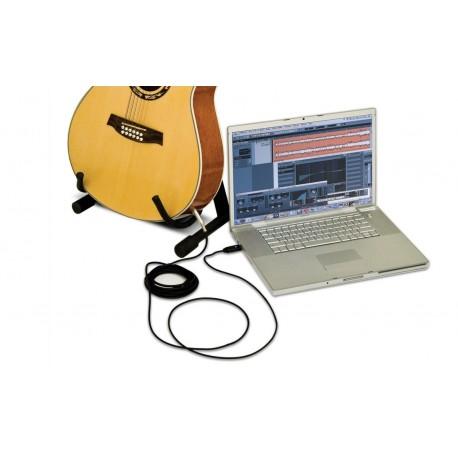 CORDON GUITARE CONVERTISSEUR AUDIO NUMÉRIQUE IMG STAGE LINE USB-500PP