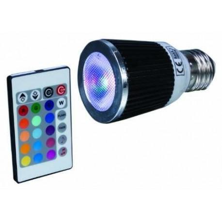 LAMPE LED Douille E27 CHANGEMENT DE COULEURS ACCU-SSL MRR527