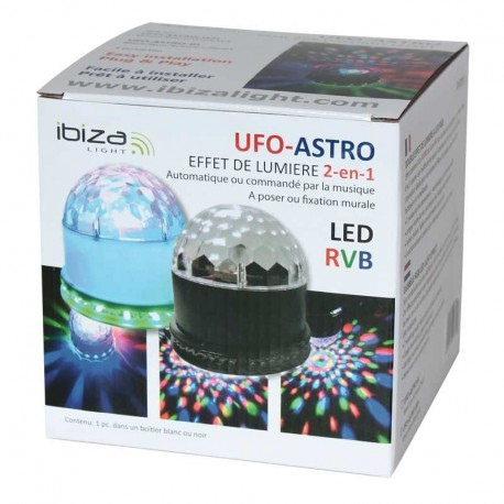DEMIE-BOULE LUMINEUSE IBIZA LIGHT UFO-ASTRO-BT-WH BLANCHE