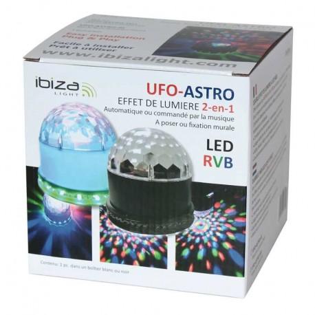 DEMIE-BOULE LUMINEUSE IBIZA LIGHT UFO-ASTRO-BL NOIRE