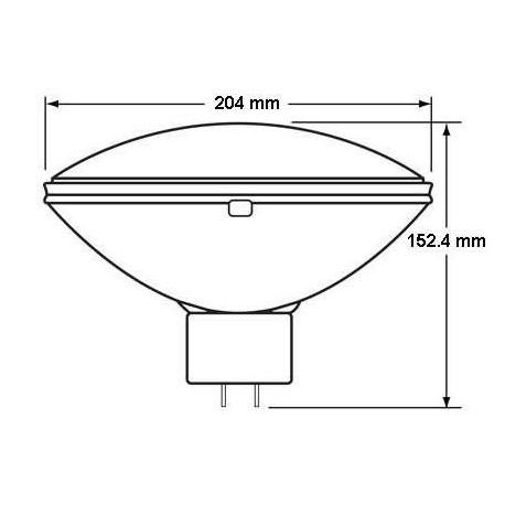 LAMPE PAR 64 FFP - Q 1000 PAR 64/6 120V 1000W GENERAL ELECTRIC