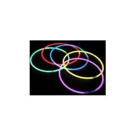 Collier fluo vert 580 mm Ø 5 mm les 100 pièces Glowies 4303