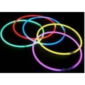 Collier fluo étui de 50 p couleur assortie long 55.80 mm Glowing 4306