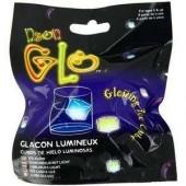 Glaçon jaune fluo lumineux Glowing ice cube