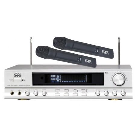 AMPLI HIFI Home Cinéma KARAOKE avec 2 micro HF KOOL SOUND WMP-100