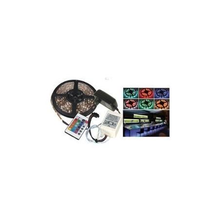 FLEXIBLE LUMINEUX A LED RGB de 5M LTC LLAS500RGB-SET