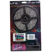 RUBAN FLEXIBLE LUMINEUX A LED RGB de 5M KIT COMPLET