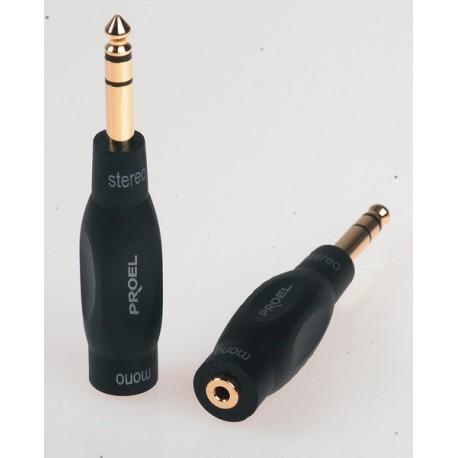 ADAPTATEUR JACK MALE 6,35 STEREO / MINI JACK MONO FEMELLE 3,5 mm PROEl DHPA 166