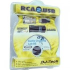 CARTE SON CONVERTISSEUR INTERFACE DJ-TECH RCA -2-USB