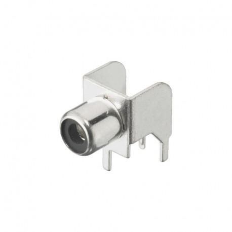 Fiche RCA circuit imprimé Femelle Nickel Argenté Monacor T-709