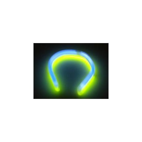 Baton Bracelet Fluorescent Bicolor Bleu/Jaune Fluo Twister Touilleur
