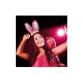 Oreilles de lapin rose lumineuse Bunny Cheetah