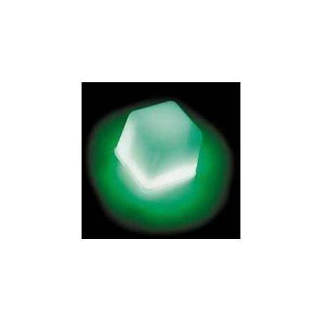 Glaçon vert  fluo  lumineux  Glowing ice cube