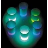 """Verre """"fluo"""" dosseur shoot tube comprenant 6 verres Neon Glo"""