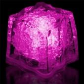 Glaçon rose fluo lumineux Glowing ice cube