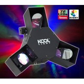 JEU DE LUMIERE 72 Leds RVBWY CENTRE DE PISTE KOOL LIGHT TRI-SCAN