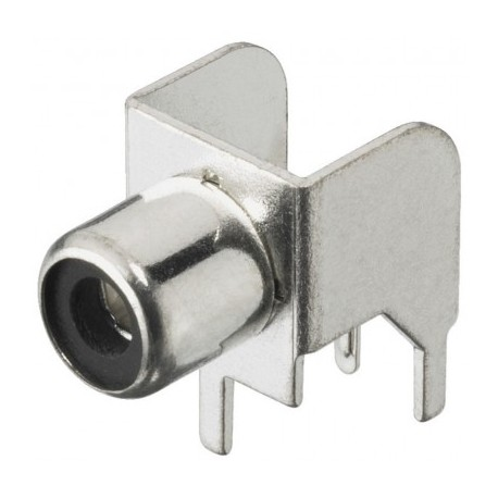 Fiche RCA pour circuit imprimé Femelle Nickel Argenté Monacor T-709