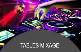 Tables de mixage professionnelles